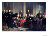 Men of Progress: Group Portrait of the Great American Inventors of the Victorian Age, 1862 Premium Giclee Print by Christian Schussele