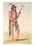 "Sioux Ball Player Ah-No-Je-Nange, ""He Who Stands on Both Sides"", 19th Century Giclee Print by George Catlin"