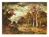 The Edge of the Forest, 1871 Giclee Print by Narcisse Virgile Diaz de la Pena