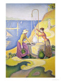 Young Women of Provence at the Well, 1892 Giclee Print by Paul Signac