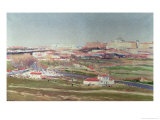 Pradera de San Isidro and Palacio Real Beyond, Madrid Giclee Print by Aureliano De Beruete