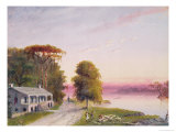 Mississippi River Plantation Giclee Print by John Barnard