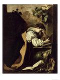 Meditation Giclée-tryk af Domenico Fetti