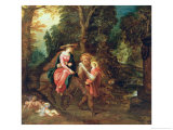 The Flight into Egypt Giclee Print by Frans Francken the Younger