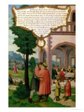 The Parable of the Prodigal Son, Section from the Mompelgarter Altarpiece Giclee Print by Matthias Gerung