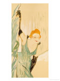Yvette Guilbert Taking a Curtain Call, 1894 Lámina giclée por Henri de Toulouse-Lautrec