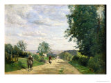 The Road to Sevres, 1858-59 Giclee Print by Jean-Baptiste-Camille Corot