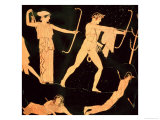 The Death of the Niobids, Detail from an Attic Red-Figure Calyx-Krater, circa 450 BC Giclee Print by  Niobid Painter