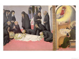 St. Jerome Appearing to St. Cyril of Jerusalem, 1444 Giclee Print by  Sano di Pietro
