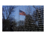 Old Glory Reflection (Vietnam Wall) Photographic Print by April Sims