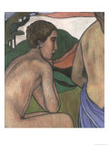 Seated Male Nude in a Landscape, circa 1889-90 Giclee Print by Charles Filiger
