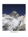 Aim High - Mt Everest Fotografie-Druck von AdventureArt 