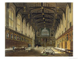 Interior of the Hall of Christ Church Giclee Print by Augustus Charles Pugin