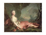 Portrait of Maria Adelaide of France, Daughter of Louis XV Dressed as Diana, 1745 Giclee Print by Jean-Marc Nattier
