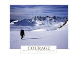 Coragem, em inglês Impressão fotográfica por  AdventureArt