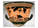 Attic Red-Figure Calyx-Krater Depicting Herakles Wrestling with Antaeus, from Cervetri Giclee Print by  Euphronios