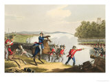 The Battle of Waterloo Decided by the Duke of Wellington Reproduction procédé giclée par John Augustus Atkinson