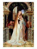 Virgin and Child with Three Angels, Central Panel of a Triptych, circa 1509 Giclee Print by Quentin Metsys