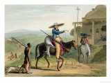"Boors Returning from Hunting, Plate 11 from ""African Scenery and Animals"" Giclee Print by Samuel Daniell"
