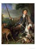 Self Portrait as a Hunter, 1699 Premium Giclee Print by Alexandre-Francois Desportes