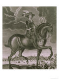 Equestrian Portrait of Oliver Cromwell circa 1655 Giclee Print by Albert Haelwegh