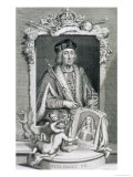 Henry VII King of England from 1485, after a Portrait in the Royal Collection Lámina giclée por George Vertue