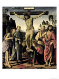 Crucifixion, Saints Jerome, Francis, Mary Magdalene, John the Baptist, Giovanni Colombini Giclee Print by Pietro Perugino