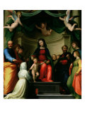 The Mystic Marriage of St. Catherine of Siena with Saints, 1511 Giclée-tryk af Fra Bartolommeo
