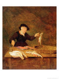 A Fishmonger, circa 1667 Gicl&#233;e-Druck von Quiringh Gerritsz. van Brekelenkam