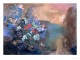 Ophelia Among the Flowers, circa 1905-8 Giclee Print by Odilon Redon