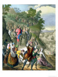 Christ's Triumphal Entry into Jerusalem, from a Bible Printed by Edward Gover, 1870s Giclee Print by Siegfried Detler Bendixen