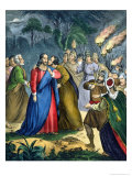 Judas Betrays His Master, from a Bible Printed by Edward Gover, 1870s Giclee Print by Siegfried Detler Bendixen