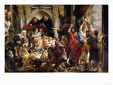 Christ Driving the Merchants from the Temple Giclee Print by Jacob Jordaens