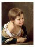 A Peasant Boy Leaning on a Sill, 1670-80 Giclee Print by Bartolome Esteban Murillo