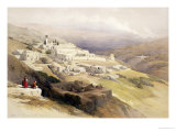 "Convent of the Terra Santa, Nazareth, April 21st 1839, ""The Holy Land"", Pub. 1842 Giclee Print by David Roberts"