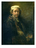 Portrait of the Artist at His Easel, 1660 Giclee Print by  Rembrandt van Rijn