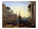 Ulysses Returning Chryseis to Her Father Giclee Print by Claude Lorrain