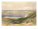 Sea of Galilee or Genezareth, Looking Towards Bashan, April 21st 1839, Pub. 1842 Giclée-Druck von David Roberts