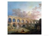 The Pont Du Gard, Nimes, circa 1786 Reproduction procédé giclée par Hubert Robert