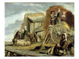 The Haycart, or Return from Haymaking, 1641 Giclee Print by Louis Le Nain
