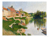 The River Bank, Petit-Andely, 1886 Giclee Print by Paul Signac