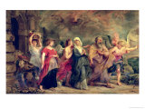 Lot's Family Leaving Sodom, 1625 Giclee Print by Peter Paul Rubens