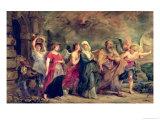 Lot's Family Leaving Sodom, 1625 Giclee Print by Peter Paul Rubens