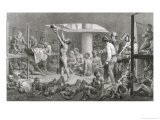 Negroes in the Bilge, Pub. by Engelmann, circa 1835 Giclee Print by Johann Moritz Rugendas