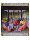 The Washing of the Feet, Detail from Panel Three of the Silver Treasury of Santissima Annunziata Giclee Print by  Fra Angelico