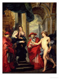 The Medici Cycle: the Treaty of Angouleme, 1619 or the Reconciliation of Marie Medici with Her Son Giclee Print by Peter Paul Rubens