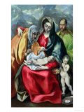 The Holy Family with St.Elizabeth, 1580-85 Giclee Print by  El Greco