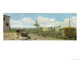 The Farmyard Giclee Print by Raffaello Sernesi