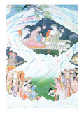 The Holy Family of Shiva and Parvati on Mount Kailash Giclee Print