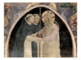 Christ Welcomes Two Dominican Friars Giclee Print by  Fra Angelico